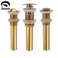 Wholesale And Retail Solid Brass Bathroom Pop Up Drain Basin Tap Sink Drain