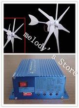 DHLFree Доставка! 300 Вт 12 В Ветротурбины + 300 Вт 12 В Ветра Солнечной Гибрид Контроллер выход ПОСТОЯННОГО ТОКА зарядки аккумулятора