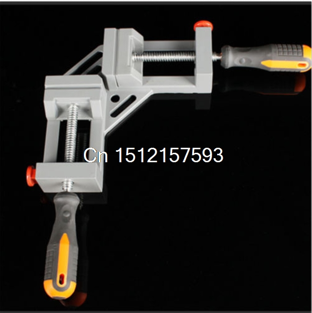 NEW Style Double handle 90 Degrees Angle Clamp Right Angle Woodworking Clamp ninth world new single handlealuminum 90 degree right angle clamp angle clamp woodworking frame clip right angle folder tool
