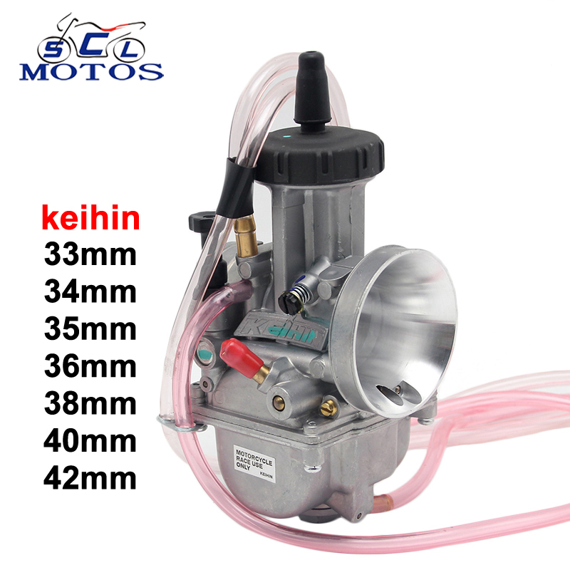 Sclmotos -33,34, 35,36,38,40,42mm Air Striker KEIHIN PWK Carburetor for 4T Engine Motorcycle Scooter UTV ATV Dirt Bike TRX250R