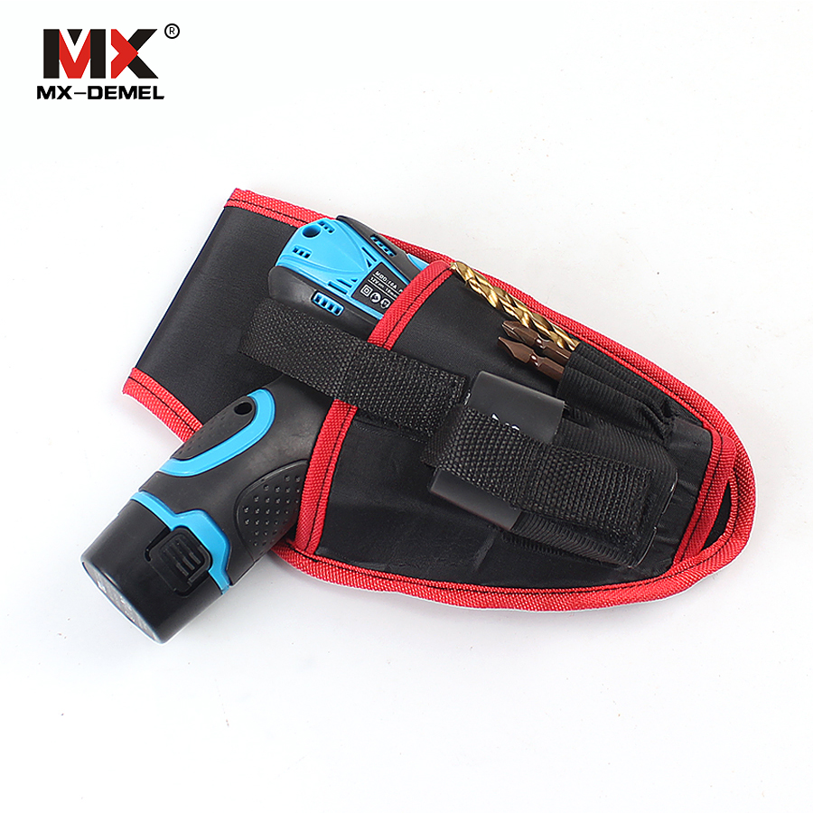 MX-DEMEL 12v Drill Waist Tool Bag Portable Cordless Drill Holder Holst Tool Pouch Electrician Tools Hand Tools Bag