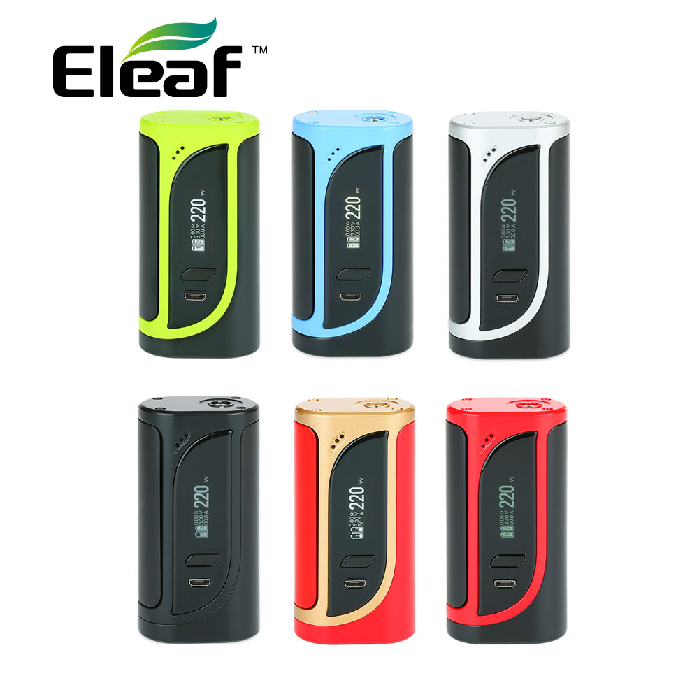 Original 220 W Eleaf iKonn 220 caja MOD No 18650 caja de batería Mod para Ello del atomizador del eleaf cigarrillo electrónico Vape mod vs arrastrar 2
