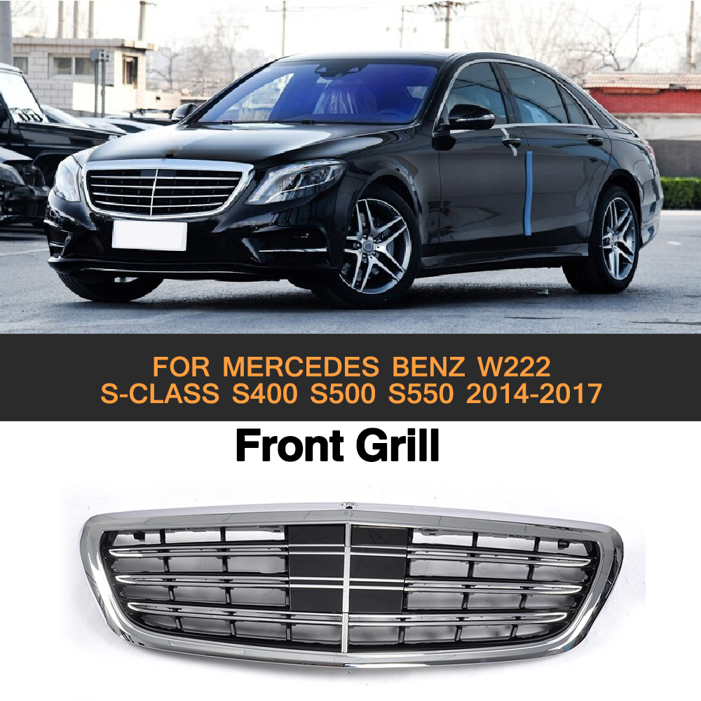 ABS Car Front Bumper Mesh Grill Grille For Mercedes Benz