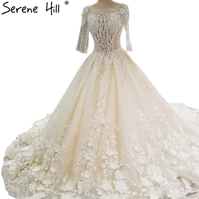High end Luxury Princess Ball Gown Wedding Dresses Vintage Crystal ...