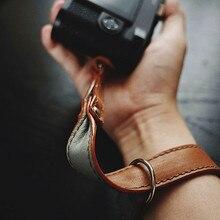 حزام كاميرا معصم من الجلد ، مصنوع يدويًا ، لكاميرا لايكا فوجي ، سوني ، أوليمبوس ، كانون ، نيكون ، بدون مرآة