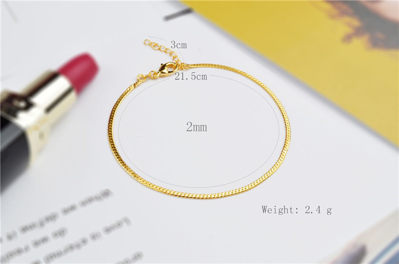 LUKENI 2018 Hot Sale Female Gold Chain Anklets Jewelry Trendy 925 Sterling Silver Bracelets For Women Birhtday Party Accessories in Anklets from Jewelry Accessories