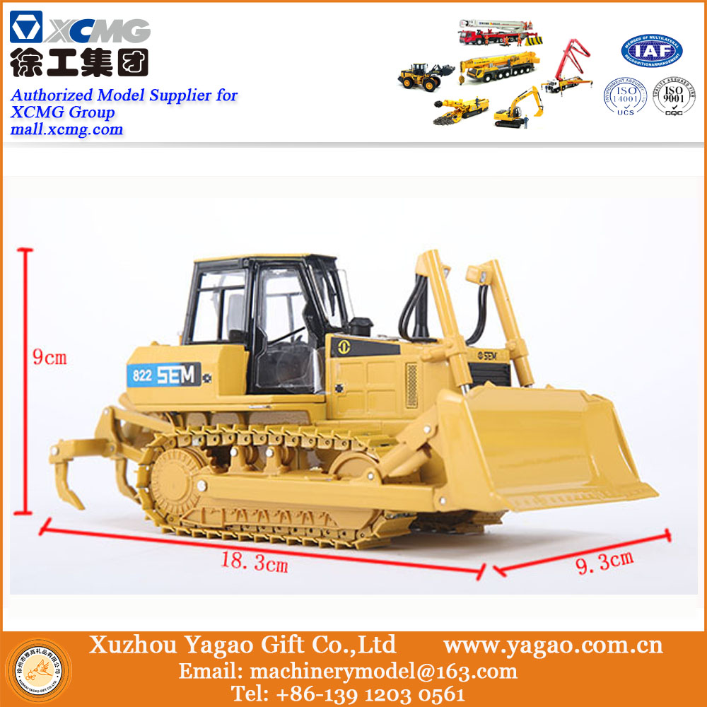 1 35 Scale Model Diecast Construction Model SEM816 Bulldozer Model Zinc Alloy Replica Gift