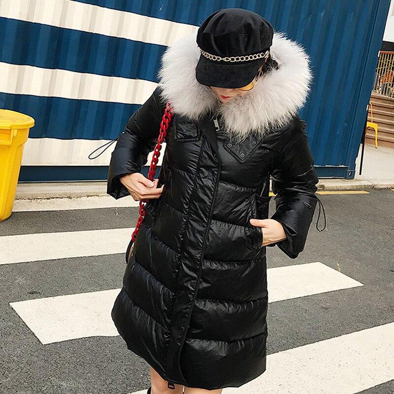 Vêtements Manteau Laveur Noir Manteaux Canard argent À Grande Duvet Capuche En Doudoune 2018 Blanc Femmes Parka De Longue Mode Raton Épais Lj177 Lumineux Hiver Fourrure fnwqTtgPR