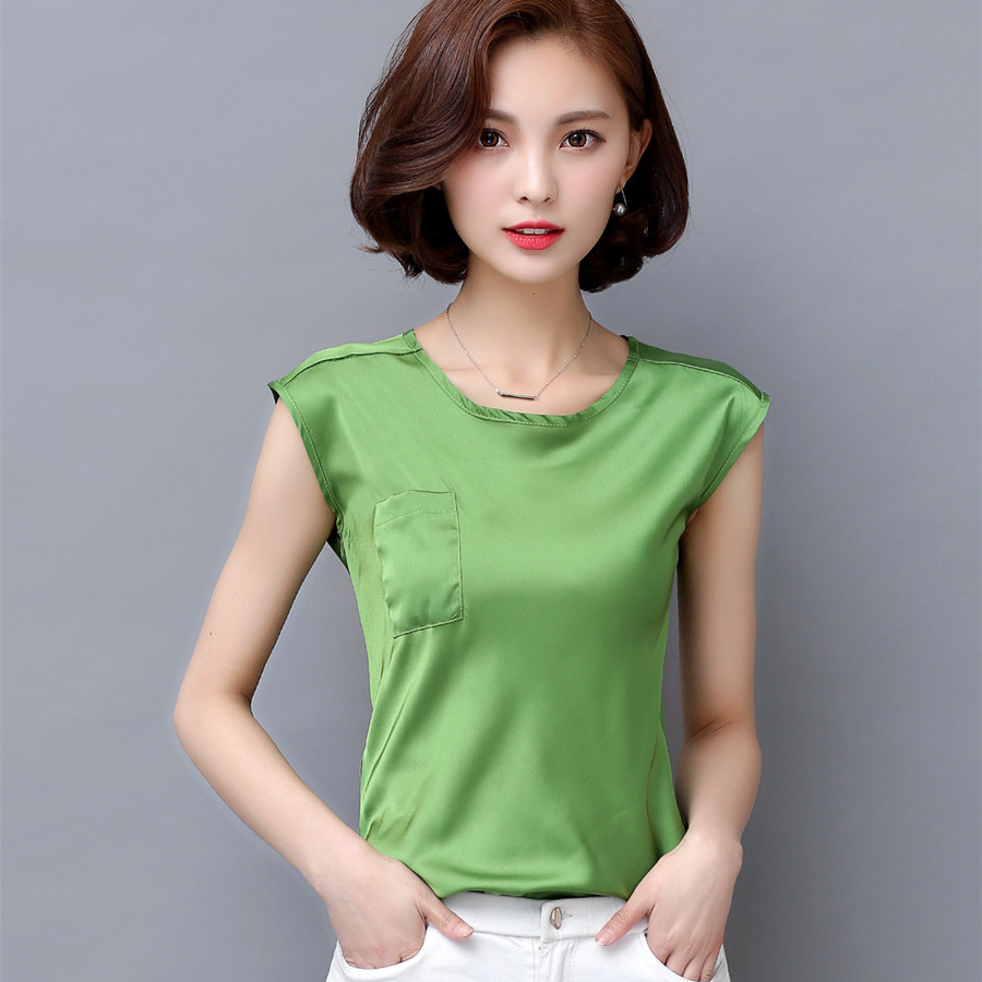 Compare Prices on Sleeveless Silk Blouse- Online Shopping/Buy Low ...