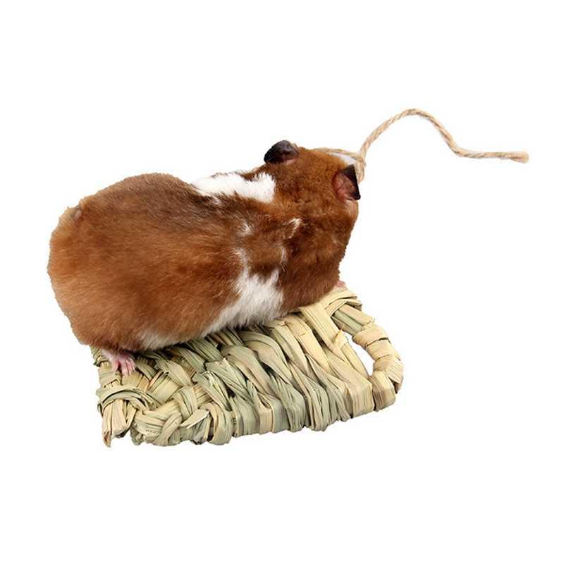 Rumput Warna Buatan Tangan Pabrik Tenun Jerami Berbentuk Hati Bernapas Dingin Hamster Bahasa Belanda Kelinci Babi Tidur Mat Mainan untuk Baik tidur