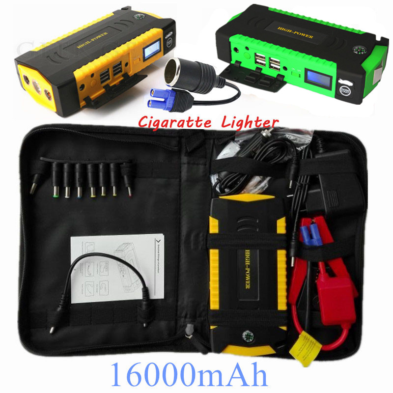 car jump starter 600a emergency starting device 16000mah power bank 12v charger for car battery. Black Bedroom Furniture Sets. Home Design Ideas