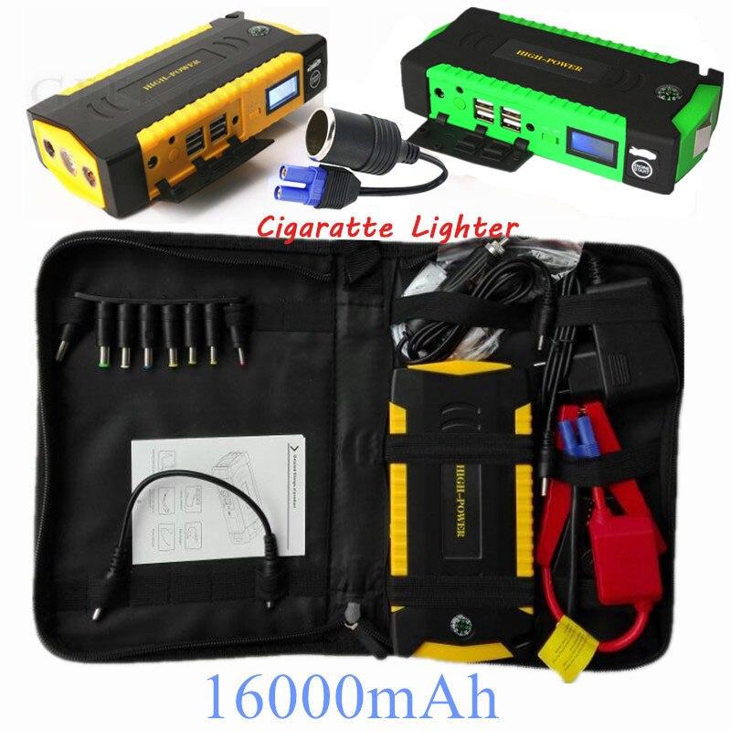 Car Jump Starter 600A Emergency Starting Device 16000mAh Starter Power Bank 12V Charger for Car Battery