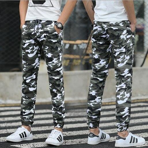 M 5X 2017 Mens Camo Jogger Spring Pencil Harem Pants Men Camouflage Military Pants Loose Comfortable