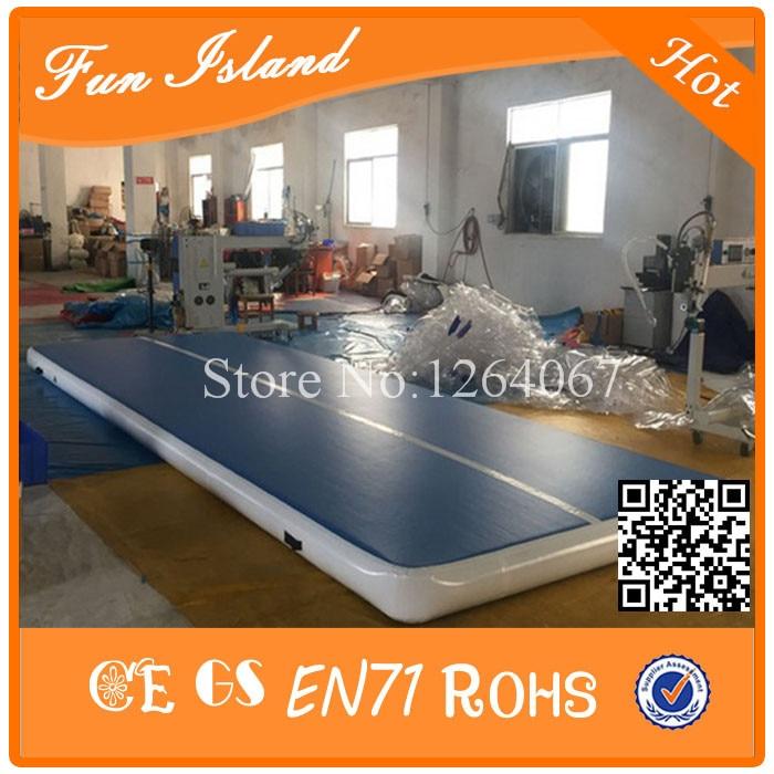 Gratis Pengiriman 0.9mm PVC 15x2 m Tiup Airtrack, Tiup gym Mat, Tiup - Hiburan dan olahraga luar ruangan - Foto 1