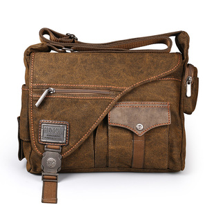 Image 3 - Ruil Bolso de lona multifunción para hombre, bandolera Retro, bolsas de viaje, bolsa de mensajero de hombro, paquete de ocio, novedad de 2018