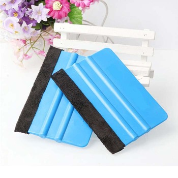 rete creative Car Vinyl Film wrapping tools Blue Scraper squeegee with felt edge size 10cm*7cm Car Styling Stickers Wh image