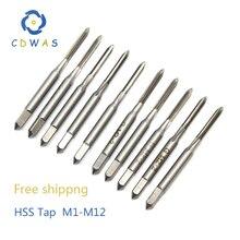 Коснитесь M1 M1.2 M2 M2.5 M3 M4 M5 M6 M7 M8 M9 M9 M10 M11 M12 метрических из быстрорежущей инструментальной стали HSS прямой шлиц машина кран