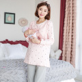 Maternity Clothes Long-sleeved Cotton Clothes For Pregnant Women Breastfeeding Pajamas Month Of Maternity Clothes Suit Pajamas