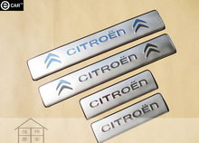 door sill strip for 2010-2012 Citroen C5 stainless steel Threshold strip exterior decoration strip body protectors