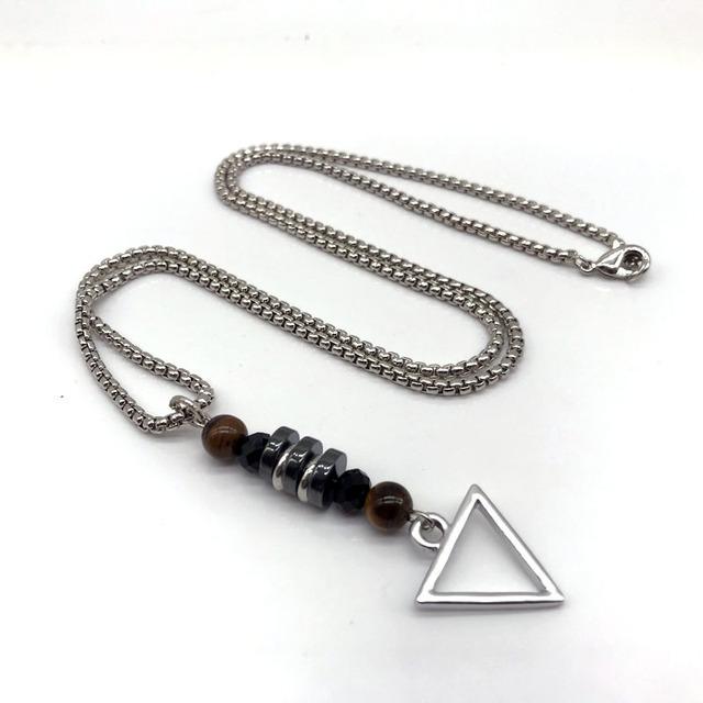 Fashion Unisex Inverted Triangle Pendant Neckalce