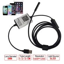 HD 720P 8MM 1/2/3/5m Wireless Wifi Endoscope Android Camera Borescope HD 720P Waterproof Inspection IOS Iphone Endoscope Camera