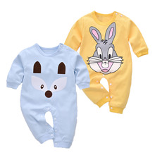 ФОТО cotton baby rompers spring baby girl clothes cartoon baby boy clothing set newborn baby clothes roupas bebe infant jumpsuits