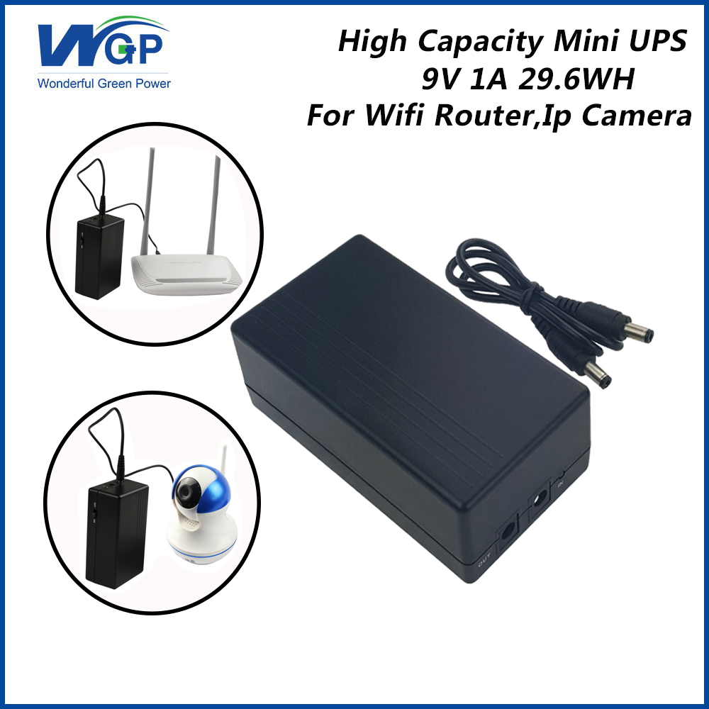 US $41 22 |dc battery backup mini ups 9V uninterruptible power supply ups  for home appliance-in Uninterrupted Power Supply from Home Improvement on