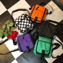 Fashion Simple Letters Chest Bags Women Canvas Shoulder Bags Messenger Bags 2019 New Female Casual Zipper Soft Handbags