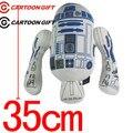 NEW hot 35cm Star Wars 7: The Force Awakens R2D2 Plush Toys soft Stuffed Doll Christmas gift