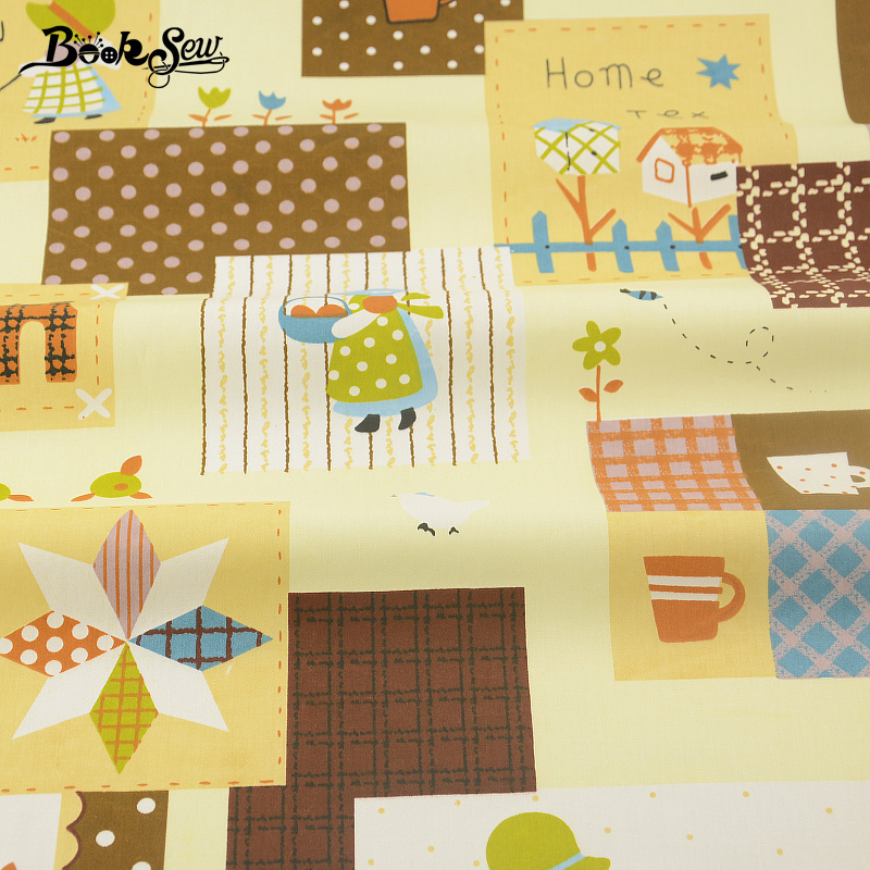 2017 100% Cotton Fabric Quilting Sewing Tecido Home Theme Pattern Twill Fat Quarter Home Textile Material Bed Cloth Patchwork