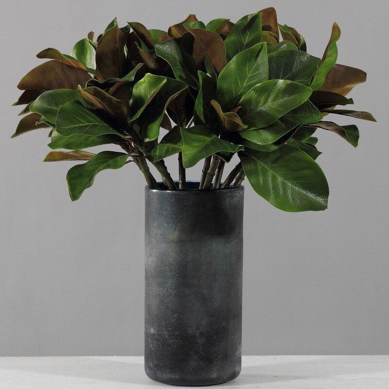 6 sztuk 61cm zaawansowana symulacja Yulan Kapok liść kompozycja kwiatowa roślin ściany materiał udogodnienia takie jak bezpłatny bezprzewodowy dostęp do domu zielony dekoracje sztuczne w Sztuczne i zasuszone kwiaty od Dom i ogród na  Grupa 1