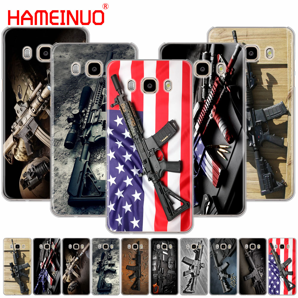 Silicone Cover Phone Case For Samsung Galaxy J1 J2 J3 J5 J7 Mini 2016 2015 Prime Weapons Rifle Guns Sniper Pistol Bullet Fitted Cases Phone Bags & Cases