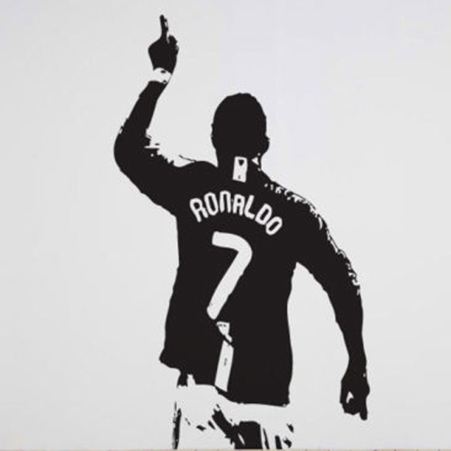 Cristiano ronaldo 7 football wall decal sticker art design 2 sizes