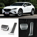 Brand New 2pcs Aluminium Non Slip Foot Rest Fuel Gas Brake Pedal Cover For Mazda CX-4 AT 2016