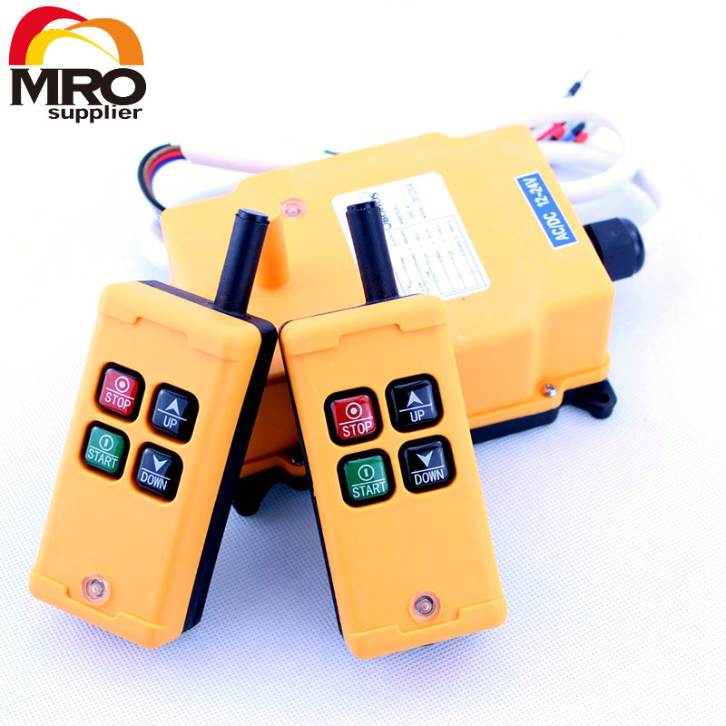 OBOHOS 2 Tansmitters 4 Channels 1 Speed Control Hoist Crane Radio Remote Control System XH00005