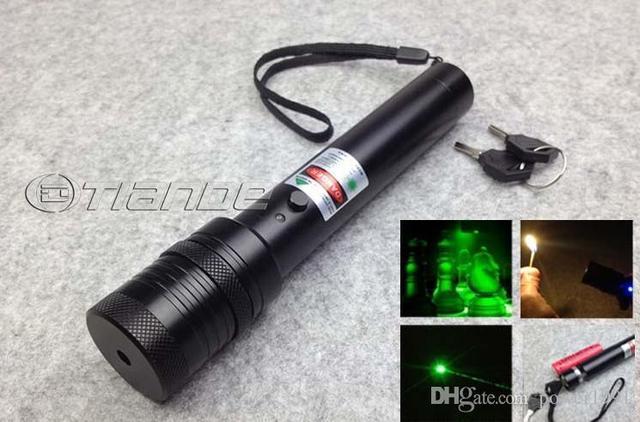 Top Laser 532nm Green Laser Pointer Adjustable Focal Length burn match with safe keys fo sale free shipping
