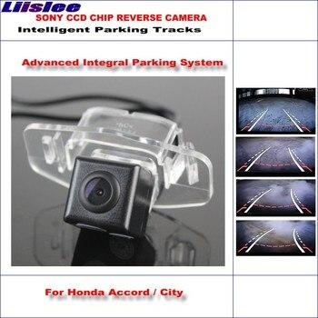 Liislee Rear Reverse Camera For Honda Accord / Spirior / City / Fit Sedan / HD 580 TV Lines Intelligent Parking Tracks