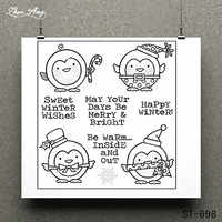 Winter Wishes Transparent Clear Stamp for Scrapbooking Rubber Stamp Seal Paper Craft Clear Stamps Card Making