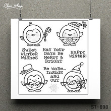 Winter Wishes Transparent Clear Stamp for Scrapbooking Rubber Seal Paper Craft Stamps Card Making