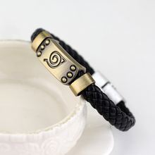 Leather Bracelets Braided Anime Wristband Alloy Bracelet
