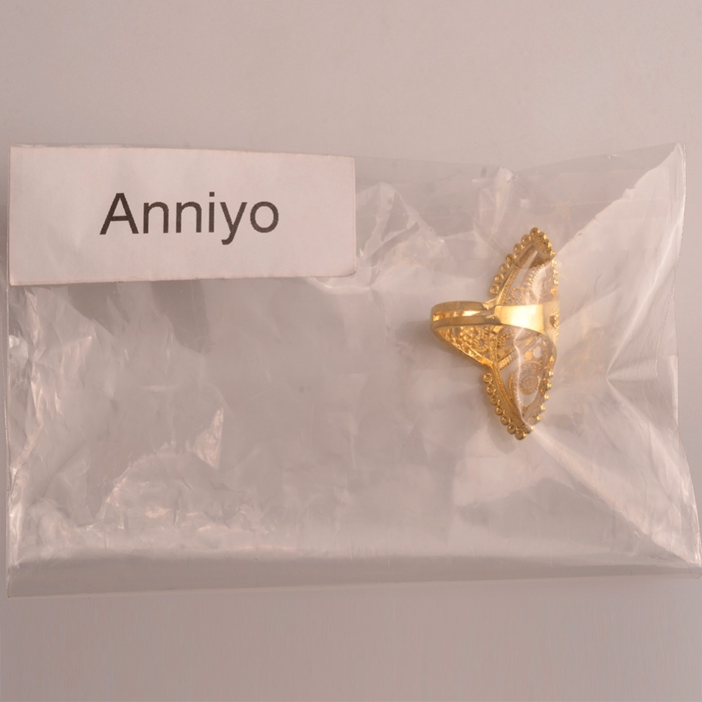 Aliexpress.com : Buy Anniyo Gold Color Ethiopian Wedding Ring Women ...