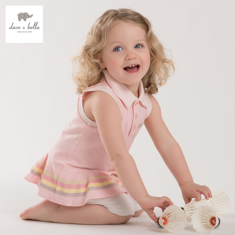 DB3935 dave bella summer baby girls sports clothing sets kids stylish clothing sets toddle cloth kids sets baby fancy clothes