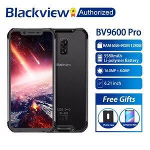"Image 1 - Blackview BV9600 פרו Mobilephone מחוספס IP68 עמיד למים Helio P70 הגלובלי 4G Smartphone 6.21 ""מסך 6GB RAM 128GB MT6771 5580mAh"