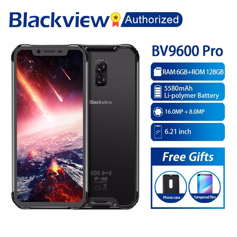 Blackview BV9600 Pro Telemóvel Robusto IP68 Helio P60 4 Global G Smartphones À Prova D' Água 6.21