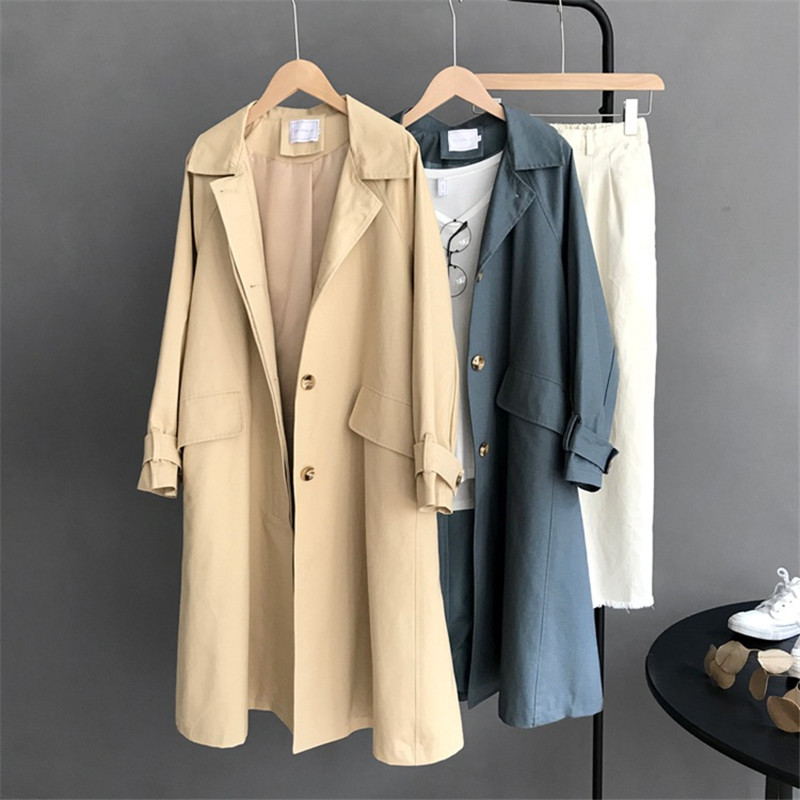 Winter Women   Trench   Coat Long Windbreaker Autumn New High Fashion Brand Classic Double Breasted   Trench   Coat Business Outerwear