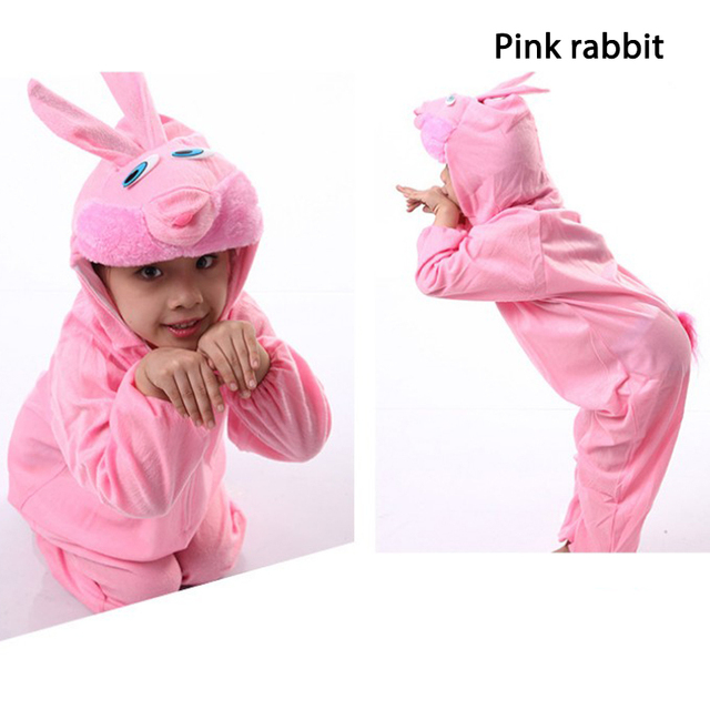2018 New Arrivals Kids Performance clothing Animal Rabbit Suits Combinations Suits Kindergarten Carnival Costume For Child 1