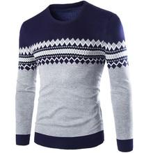 2016 neue Herbst & Winter Top Qualität Plaid Oansatz Pullover Männer Slim Fit Pullover Männer Ziehen Homme Sudaderas Herren Pullover 4 Farben