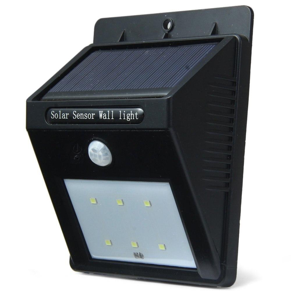 Solar Lights At The Range: New 6 Led Outdoor Solar Sensor LED Light, PIR Motion