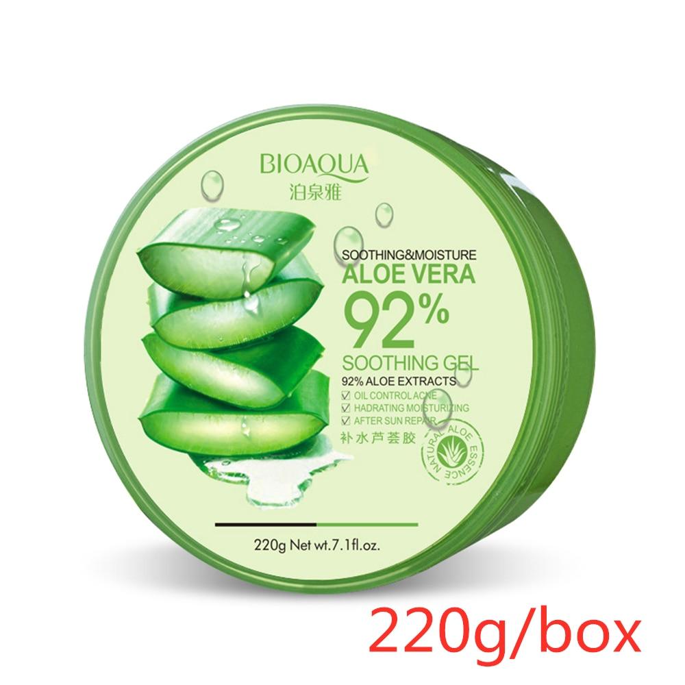 220 г гель алоэ вера 92% натуральные кремы для лица увлажняющий гель для лечения акне для восстановления кожи Натуральные Косметические продукты TSLM1 - Цвет: 220g