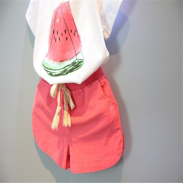 Girl's Watermelon Printed Clothing Set